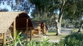 Some KOA Cabins.